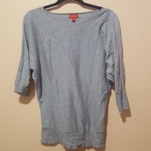 Elle Gray Top with Bling